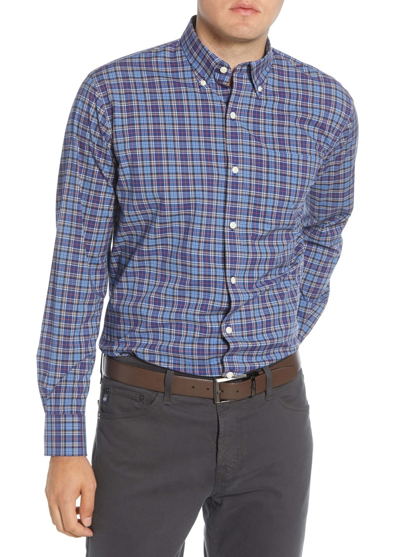 Peter Millar Half Moon Bay Regular Fit Tartan Plaid Button-Down Shirt