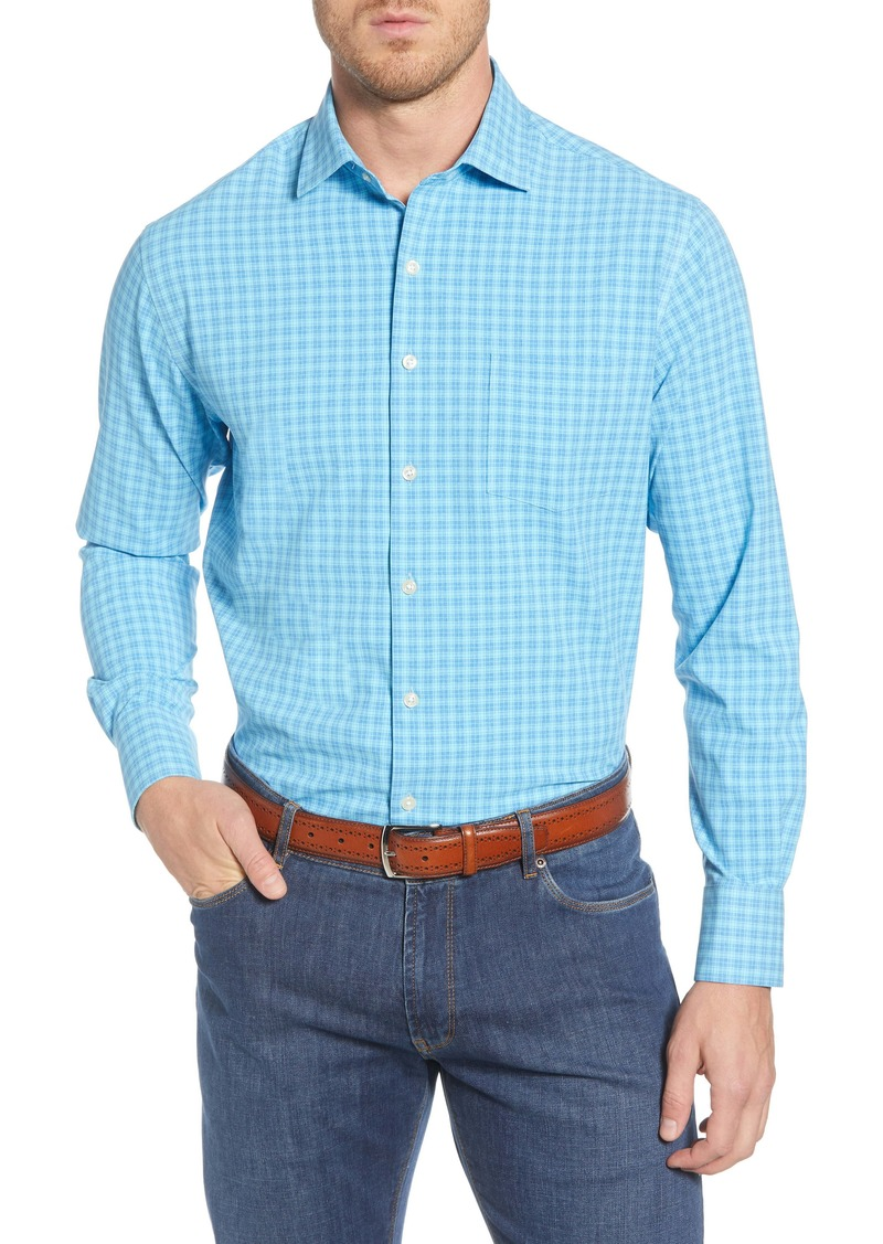 Peter Millar Hartford Regular Fit Plaid Button-Up Performance Sport Shirt