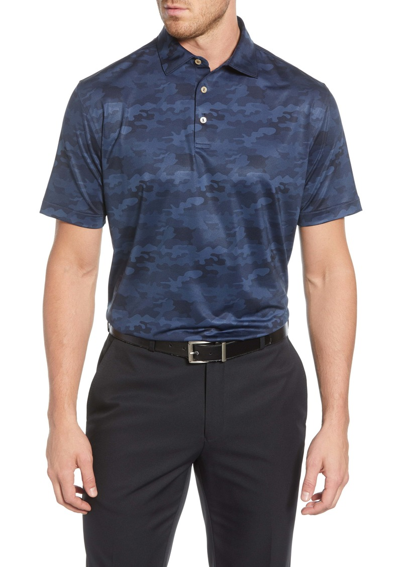 Peter Millar Haymaker Camo Print Stretch Jersey Performance Polo