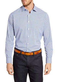 Peter Millar Holden Regular Fit Check Button-Up Performance Shirt