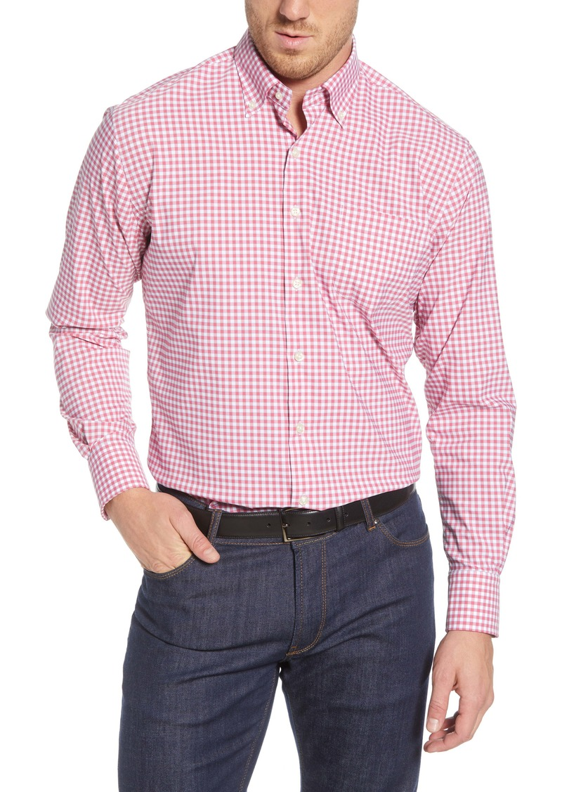 Peter Millar Humphrey Regular Fit Check Button-Down Performance Sport Shirt