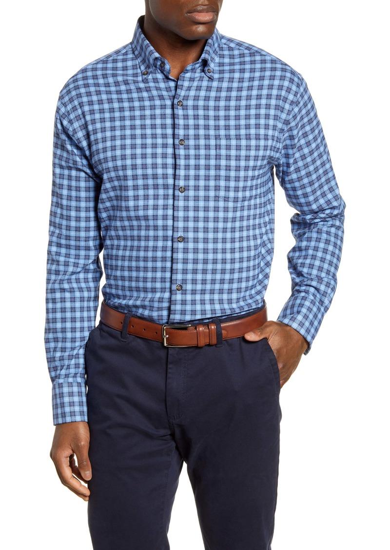Peter Millar Hunter Regular Fit Check Flannel Performance Button-Down Shirt