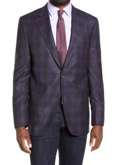 Peter Millar Hyperlight Mélange Plaid Wool Sport Coat