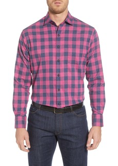 Peter Millar Jasper Regular Fit Buffalo Check Button-Up Flannel Performance Shirt