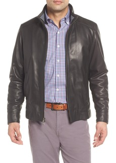 Peter Millar Leather Bomber Jacket