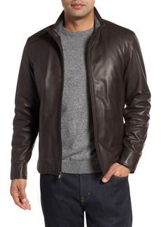 Peter Millar Leather Bomber Jacket