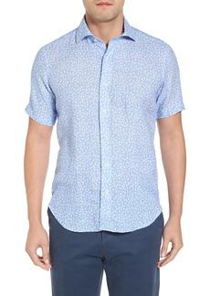 Peter Millar Life Aquatic Regular Fit Linen Sport Shirt