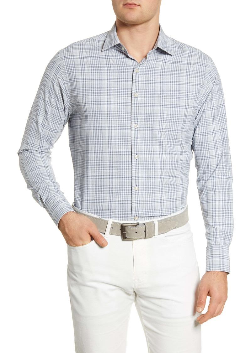 Peter Millar Natural Touch Plaid Button-Up Performance Shirt