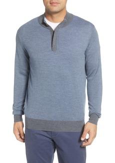 Peter Millar Needle Merino Wool Quarter Zip Pullover