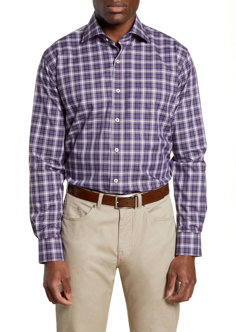 Peter Millar Old Forge Regular Fit Plaid Button-Up Sport Shirt