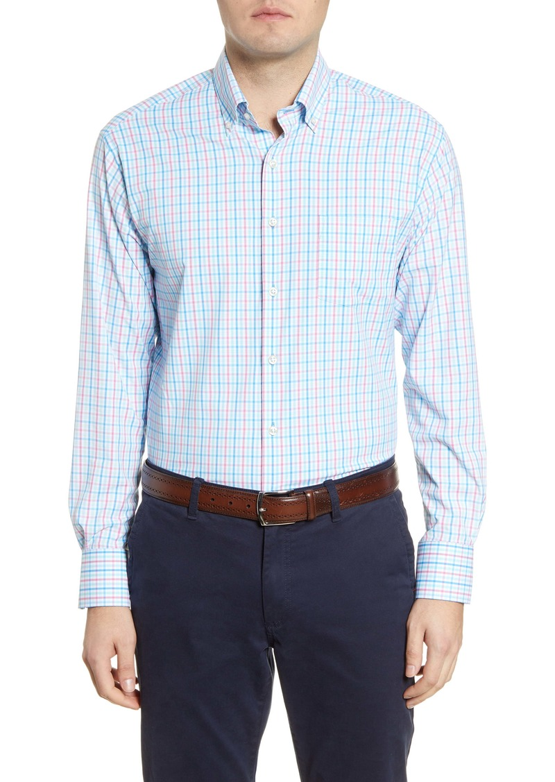 Peter Millar Oliver Plaid Button-Down Performance Shirt