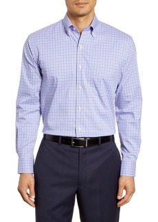 Peter Millar Park City Regular Fit Stretch Check Button-Down Sport Shirt