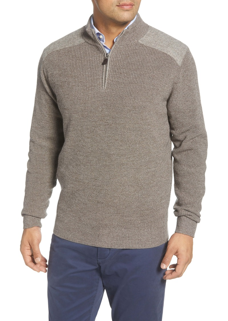 Peter Millar Quarter Zip Wool Pullover