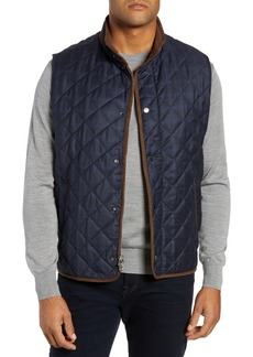Peter Millar Quilted Plaid Wool Vest (Nordstrom Exclusive)
