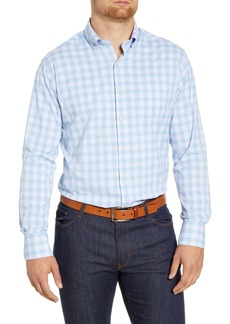 Peter Millar Rainier Regular Fit Plaid Button-Down Performance Sport Shirt
