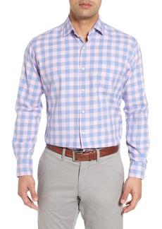 Peter Millar Seaglass Gingham Check Sport Shirt