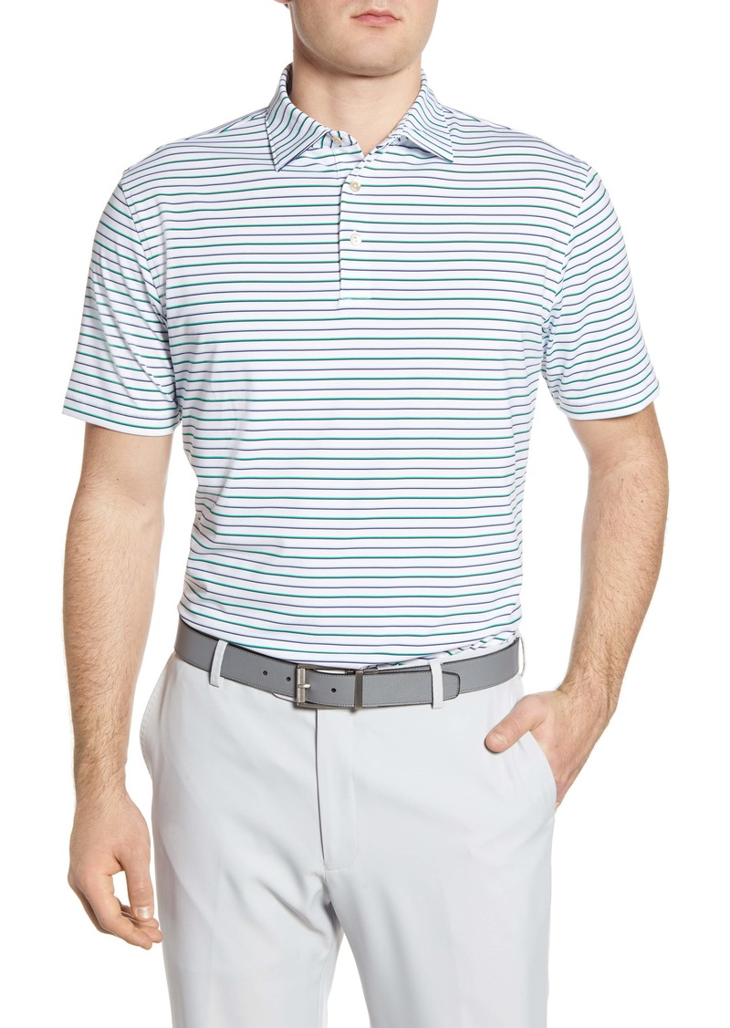 Peter Millar Sean Stripe Stretch Jersey Polo