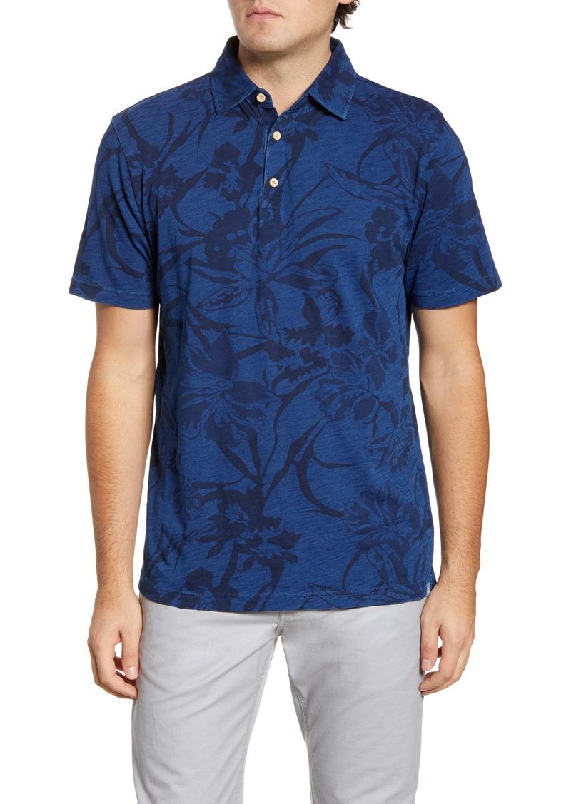 Peter Millar Seaside Print Cotton Polo Shirt