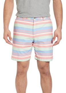 Peter Millar Stripe Flat Front Shorts