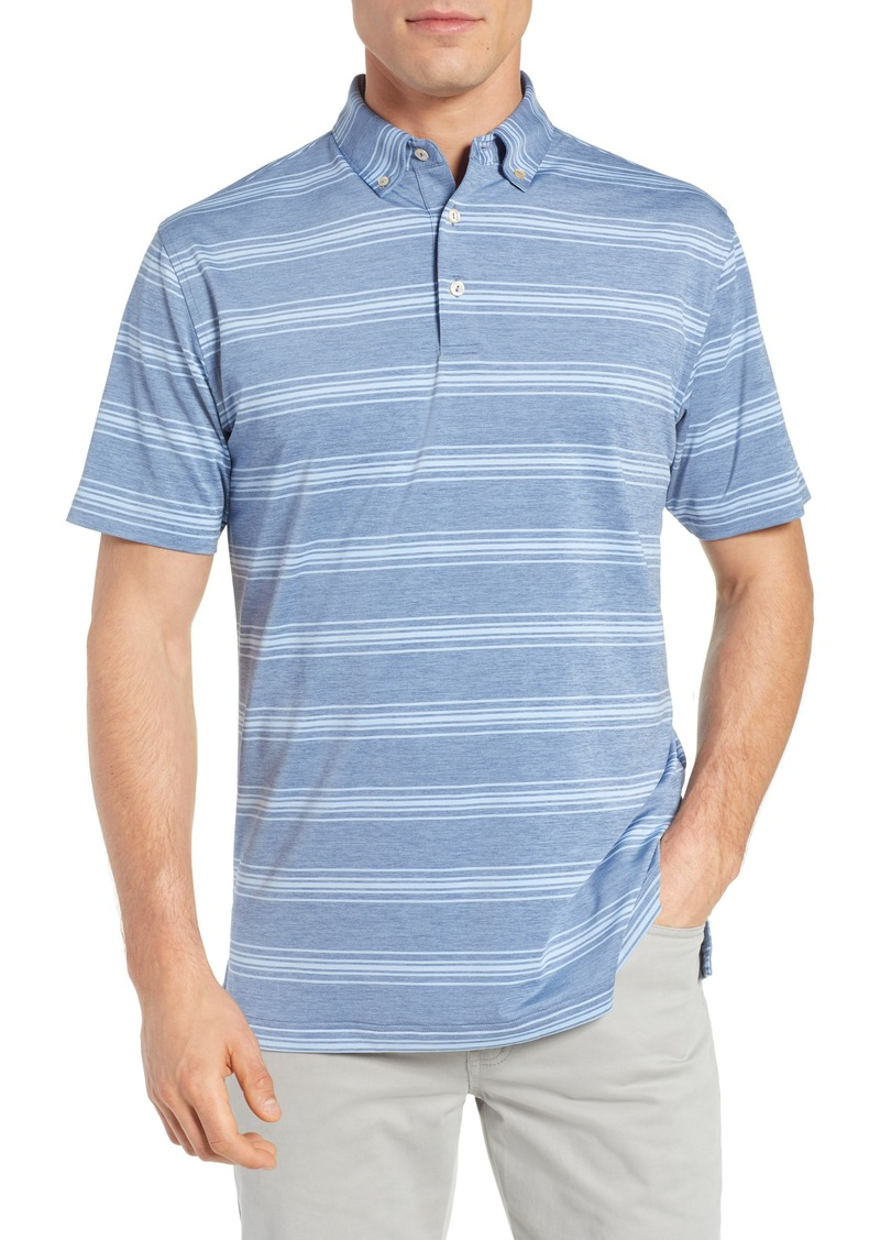 Peter Millar Stripe Stretch Jersey Performance Polo