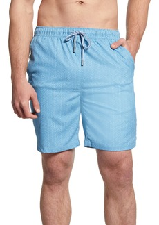 Peter Millar Summer Winds Chevron Swim Trunks