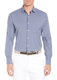 Peter Millar University Regular Fit Check Performance Sport Shirt