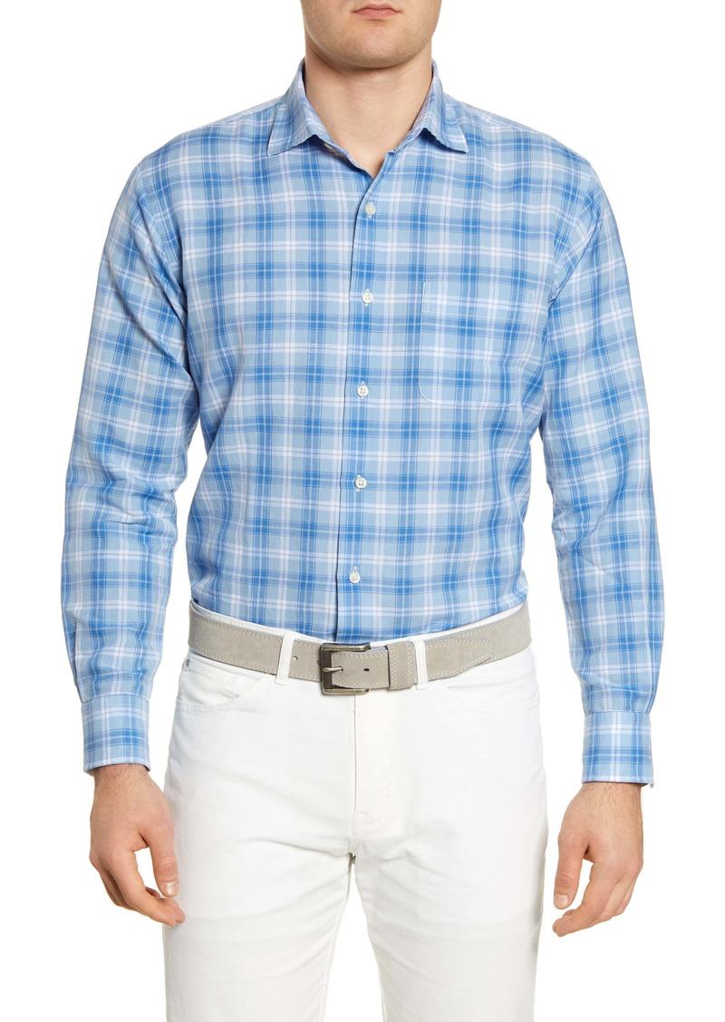 Peter Millar Whitehaven Plaid Linen Blend Button-Up Shirt