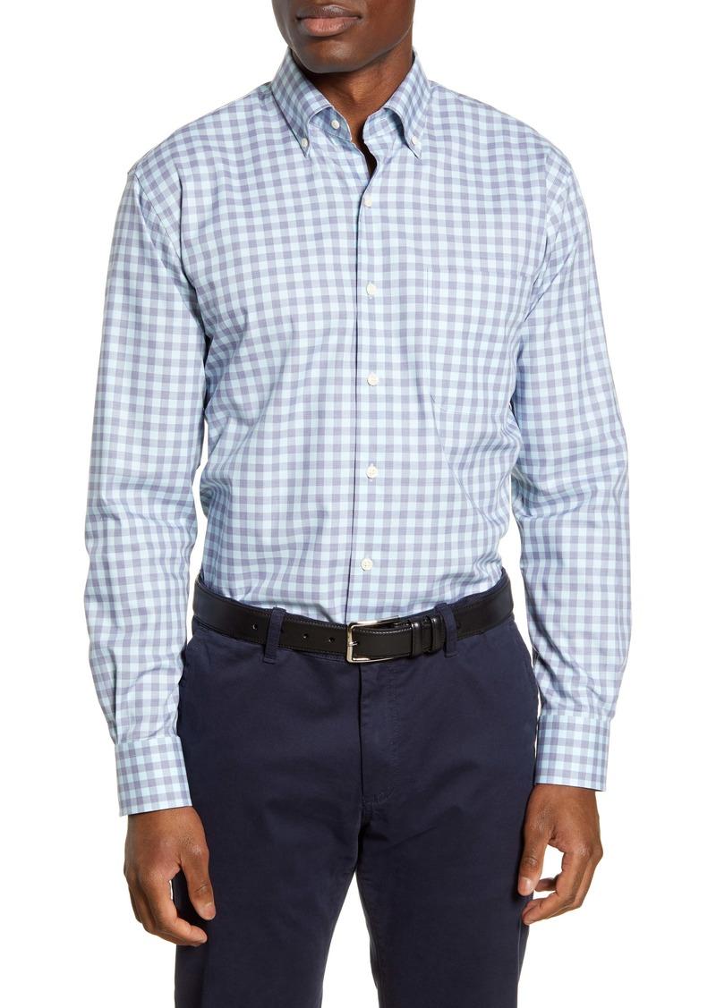 Peter Millar Woodberry Regular Fit Check Button-Down Sport Shirt