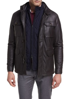 Peter Millar Woodland Deerskin Leather Discovery Field Jacket