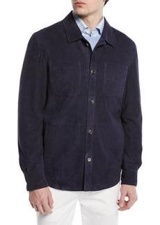 Peter Millar Suede Shirt Jacket