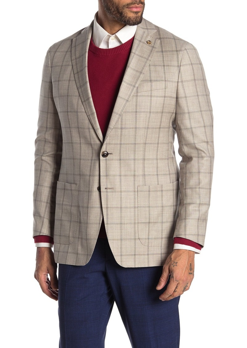 Peter Millar Summer Excursionist Windowpane Wool Jacket