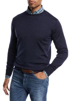 Peter Millar Wool-Blend Crewneck Sweater