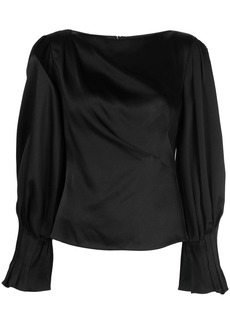 Peter Pilotto draped satin blouse
