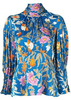 Peter Pilotto floral high neck blouse