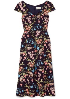 Peter Pilotto Floral-print Cady Midi Dress
