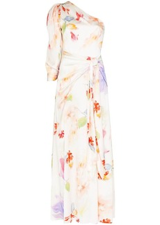 Peter Pilotto floral print draped gown