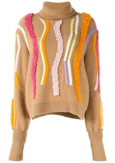Peter Pilotto embroidered detail turtleneck sweater