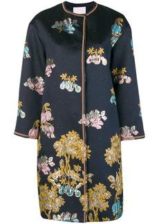 Peter Pilotto metallic jacquard coat