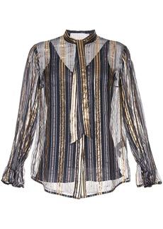 Peter Pilotto metallic striped blouse