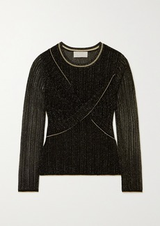 Peter Pilotto Metallic Twist-front Knit Top