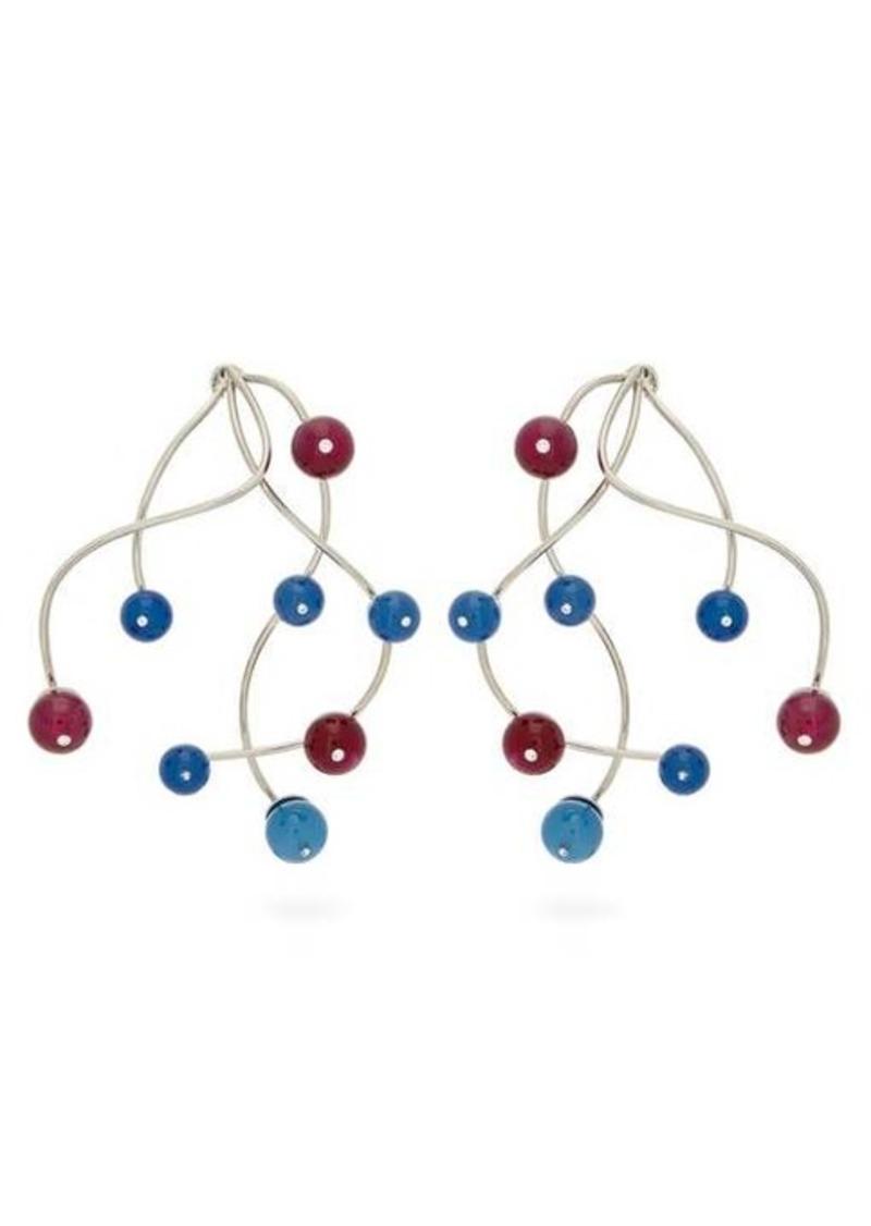Peter Pilotto Beaded branch-drop earrings
