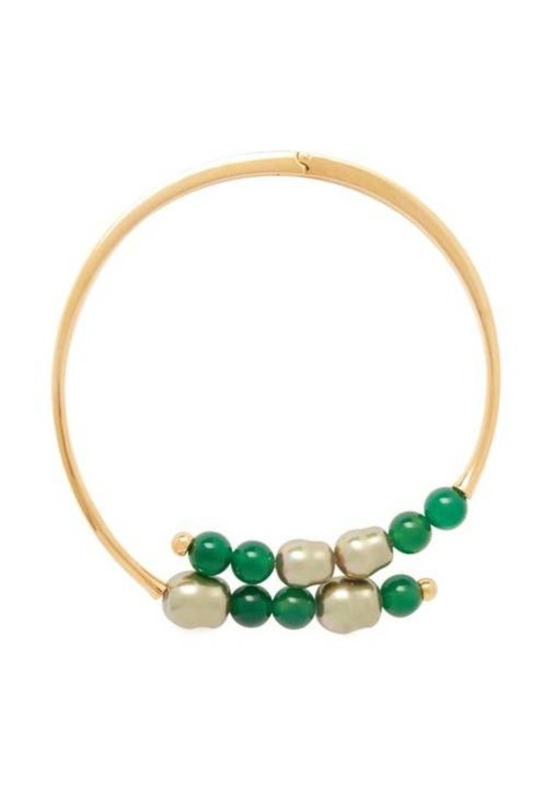 Peter Pilotto Beaded hinged choker necklace