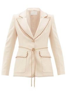 Peter Pilotto Braided-trim single-breasted tweed jacket