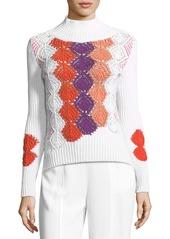 Peter Pilotto Crocheted Mock-Neck Sweater