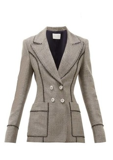 Peter Pilotto Double-breasted lamé-tweed blazer