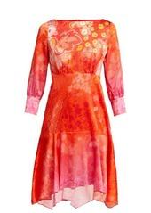 Peter Pilotto Floral-print silk-blend dress