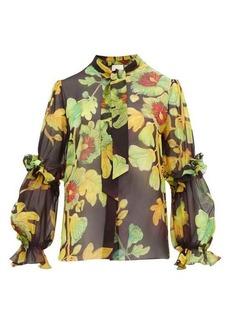 Peter Pilotto Floral-print silk-georgette blouse