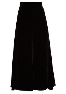Peter Pilotto High-rise velvet culottes