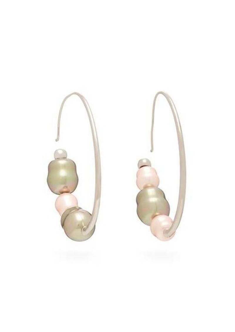 Peter Pilotto Iridescent-bead hoop earrings