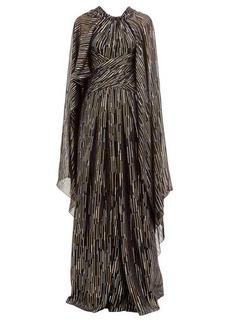 Peter Pilotto Lamé fil-coupé silk-blend georgette gown
